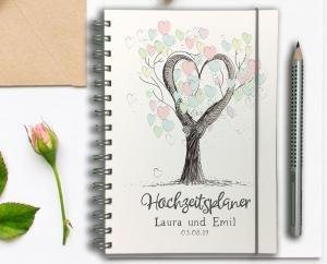 Hochzeitsplaner - Wedding Planer - personalisiert - Tree of Love