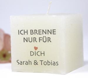Valentinstag Geschenk - personalisierte Kerze-  Ich brenne nur für Dich...