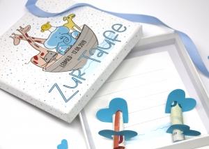 Geldgeschenk zur Taufe Arche Noah  - Geld Verpackung - Personalisiert
