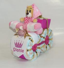Windeltorte -  Super tolles Windelmotorrad Prinzessin - Geburtsgeschenk