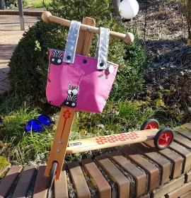 genähte Roller- oder Dreiradtasche für den Lenker - schon verdreht das Zebra die Augen - Handarbeit kaufen