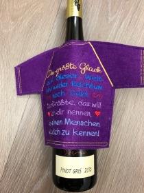 Lustiges Flaschen T-Shirt Geniale Idee für jeden Anlass/ Geschenke Handarbeit Stickerei - Handarbeit kaufen