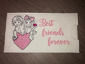 Schokihülle Schokoladenhülle/ Schokitasche/ Schokiverpackung Handarbeit Valentinstag Best Friends Forever - Handarbeit kaufen