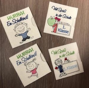 Schokihülle Schokoladenhülle/ Schokitasche Handarbeit Einschulung, Schule, Schultüte - Handarbeit kaufen