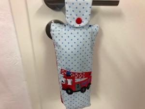 Flaschentasche Tasche Kindertasche Kinder 0,5l Feuerwehr, Durstlöscher,Stickerei Handarbeit  - Handarbeit kaufen