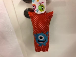 Flaschentasche Tasche Kindertasche Kinder 0,5l Monster, Monsterdrunk, Stickerei Handarbeit - Handarbeit kaufen