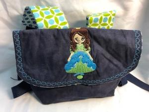 Süsser Rucksack für kleine Mädchen, Kindertasche Prinsessin - Handarbeit kaufen