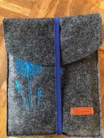 Tablettasche/ Tablettasche Pusteblume Filz handarbeit  - Handarbeit kaufen
