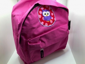 Sehr schöner bestickter Rucksack für Kinder/ Kindergartentasche/ Rucksack Eule pink - Handarbeit kaufen