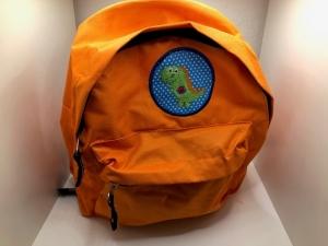 Sehr schöner bestickter Rucksack für Kinder/ Kindergartentasche/ Rucksack Orange Dino - Handarbeit kaufen