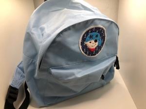 Sehr schöner bestickter Rucksack für Kinder/ Kindergartentasche/ Rucksack Pirat hellblau - Handarbeit kaufen