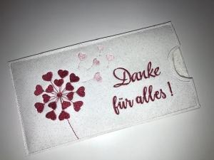Schokihülle Schokoladenhülle/ Schokitasche/ Schokiverpackung Schokolade DAnke für Alles Geschenk handarbeit Pusteblume - Handarbeit kaufen