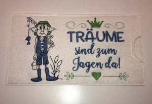 Schokihülle Schokoladenhülle/ Schokitasche/ Schokiverpackung Handarbeit Opa Herren Jagen - Handarbeit kaufen