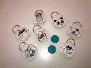 Einkaufswagen Chip, Schlüsselanhänger, Anhänger, Geschenk Einhorn, Katze, Panda,...... - Handarbeit kaufen
