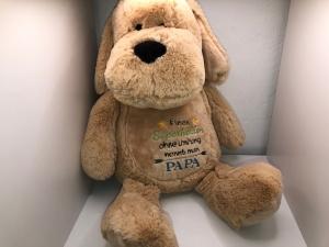 Sehr schönes Motivation Hund mit schönem Spruch Papa Held Vatertag - Handarbeit kaufen