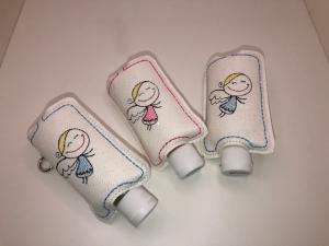 Taschenbaumler/ Schlüsselanhänger, Anhänger für Desinfektionsmittel Engel - Handarbeit kaufen