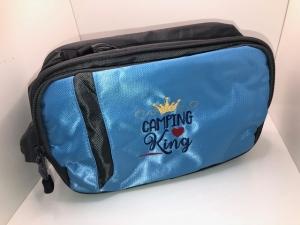 Schöne bestickte Kosmetiktasche/ Kulturtasche/ Washbag Blau Camper King - Handarbeit kaufen