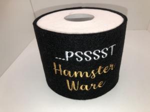 Schöne Klopapierhülle/ Toilettenpapierhülle Banderrolle Filz bestickt handarbeit   - Handarbeit kaufen