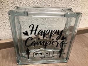 Sehr schöne Glasbaustein Spardose, Geschenk, Geldgeschenk Dekoration Camper, Wohnwagen - Handarbeit kaufen