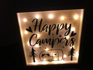 Sehr schöner beleuchteter Bilderrahmen, LED, Geschenk, Happs Campers - Handarbeit kaufen