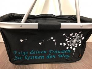 Sehr schöner bedruckter Einkaufskorb/ Korb Träume Pusteblume - Handarbeit kaufen