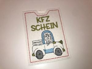 KFZ Hülle, Fahrzeugmäppchen, Geschenk, lustig handarbeit Auto, Camper, KFZ Schein, Opa