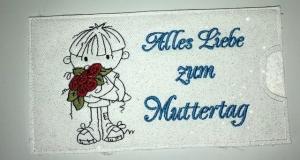 Schokihülle Schokoladenhülle/ Schokitasche/ Schokiverpackung Handarbeit Muttertag, Mama, Mutter - Handarbeit kaufen