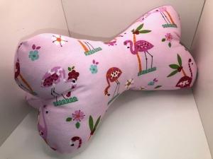 Sehr schönes Nackenkissen / Leseknochen / Lesekissen  handgemacht, Handarbeit  Flamingo - Handarbeit kaufen