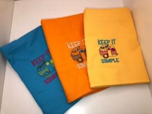 Schönes besticktes Abtockentücher SET Küchentücher Handtücher Camper Wohnwagen - Handarbeit kaufen