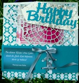 Happy Birthday ---Wellness-Geschenk für die beste Freundin - für die Mama - für die Oma ...