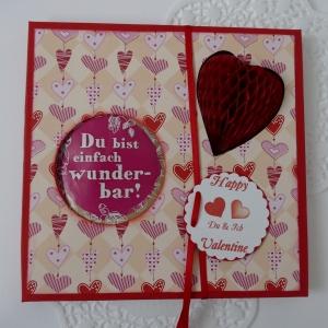 Valentinstag - Geschenke für Verliebte mit Gutscheinen zum selbst beschriften