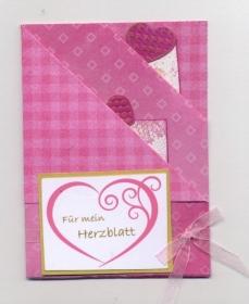 Karte zum Valentinstag die das Herzen berührt mit 2 Tags Überraschen Sie Ihre Liebste/Liebsten!