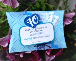 70. Geburtstag Geld verschenken auf die etwas andere Art - Geldgeschenkbox zum Einbinden in einen Blumenstrauss statt Karte