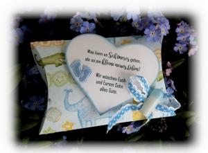 Glückwunschbox zur Geburt mit Spruch: Es kann nichts schöneres geben, als so ein kleines neues Leben!