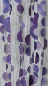 Girlande in verschiedenen Lila-Tönen - halbierte Kreise - verschiedene Größen - 5 m lang