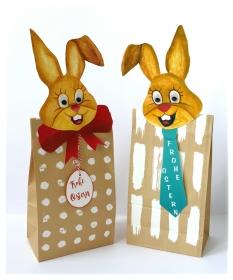 Mr. & Mrs. - 2 Osterhasen-Tüten für Ihre Geschenke oder Süßigkeiten zum Osterfest