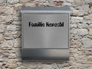 Briefkastentattoo in Wunschfarbe - Adresse 03 - Namensaufkleber - Adressaufkleber - Personalisiert - Individuell - Individualisierbar - Design Out Of Norm