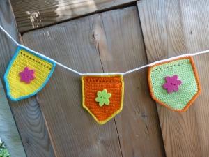 Häkelanleitung Wimpelkette - Partygirlande - Babykette - Handarbeit kaufen