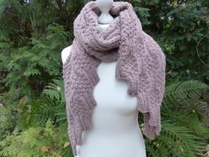 Handgestrickter Schal - Wollig warm durch den Winter - mit Alpaka-Anteil