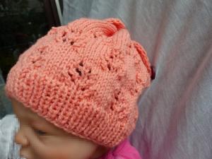 Handgestrickte Kindermütze  - Kopfumfang 41-48 cm  - 12 - 24 Monate
