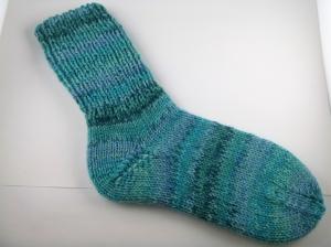 handgestrickte super dicke Socken in türkis Größe 40/41 blue Lagoon - Handarbeit kaufen