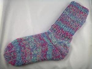 handgestrickte super dicke warme Socken in jeans-pink 40/41