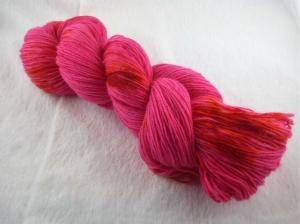 Handgefärbte Sockenwolle (4-fädig, 100g) Korallenriff