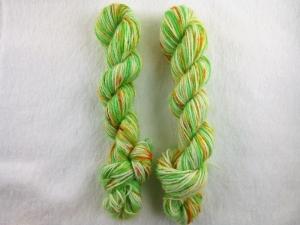Handgefärbte Sockenwolle im Ministrang (4-fädig; 20gr/ 84m) Frühlingserwachen