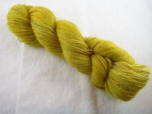 Handgefärbte Sockenwolle Tweed (100gr /420m) Heuernte