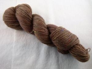 Handgefärbte Sockenwolle Tweed (100gr /420m) MilchKaffee - Handarbeit kaufen