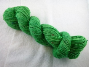Handgefärbte Sockenwolle Tweed (100gr /420m) Ich höre das Gras wachsen