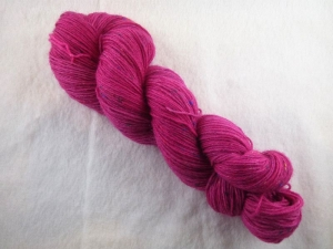 Handgefärbte Sockenwolle Tweed (100gr /420m) Fuchsie  - Handarbeit kaufen