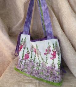 Geräumige Einkaufstasche für Blumenliebhaber