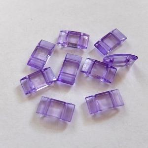 10x Trägerperlen aus Acryl mit zwei Fädellöchern, lila, zum Umfädeln mit Delicas oder Rocailles, für Ketten, Armbänder, Anhänger usw. - Handarbeit kaufen